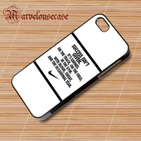 nike quote with logo custom case for all phone case