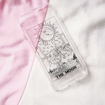 The Moon Tarot Clear iPhone Case