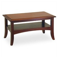 Classic Design Wood Coffee Table in Antique Walnut