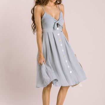 Cassandra Chambray Midi Dress