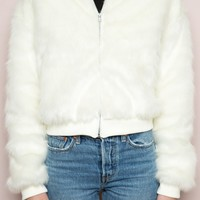 Fiona Fur Bomber Jacket - Outerwear - Clothing
