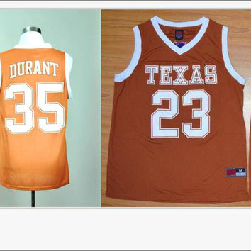 Texas Longhorns #23 LaMarcus Aldridge 35 Kevin Durant Mens American College Stitched Embroidery Basketball Shirts Sports Pro Team Jerseys
