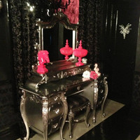 Fabulous and Baroque — Fabulous & Rococo Dressing Table - Silver Leaf - Client Photo