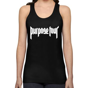 Justin Bieber Purpose Tour Crew Tank Top Women