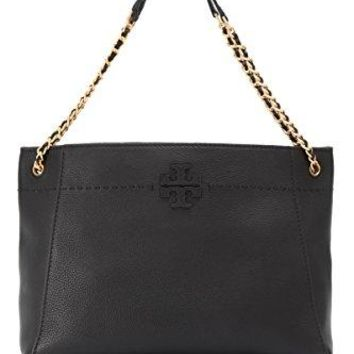 Tory Burch McGraw Chain Slouchy Tote in Black