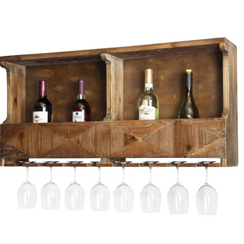 Redden Natural Reclaimed Wood Wine Rack