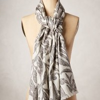 Gromwell Scarf by Anthropologie Ivory One Size Scarves