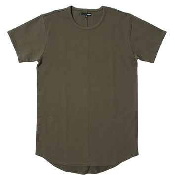 Dark Olive French Terry Curved Hem Tall Tee