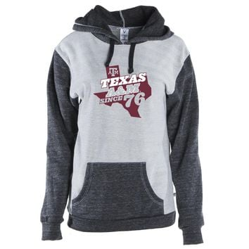 Official NCAA Texas A&M University Aggies - TAMPRD03 Unisex Color Block Kangaroo Pocket Pullover Hoodie