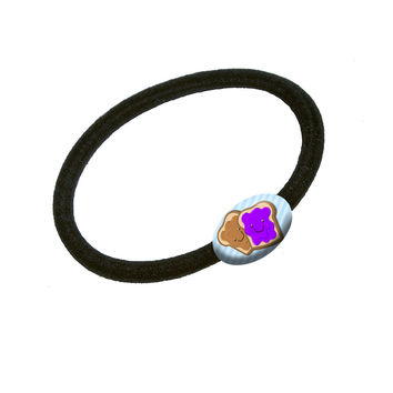 Peanut Butter and Jelly Hair Band Tie Elastic Ponytail Holder