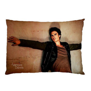 NEW Ian Somerhalder Damon Salvatore The Vampire Diaries Pillow Case No. 3