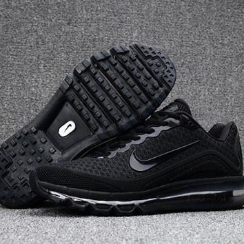 Creative Nike Air Max 2017. 8 KPU Triple Black Sneakers Men's Running Shoes