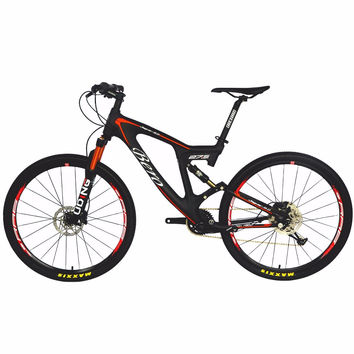 BEIOU Carbon Dual Suspension Mountain Bicycle All Terrain 27.5 Inch MTB 650B Bike 11 Speed SHI MANO Breaking T700 Matte 3K CB22