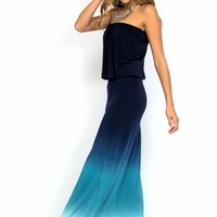 Young Fabulous & Broke Sydney maxi dress in navy ombre