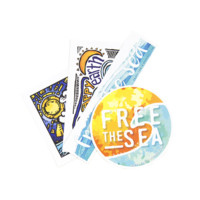 Free the Sea Stickers