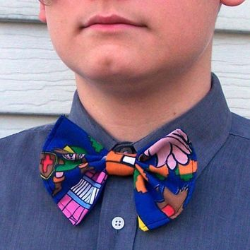 Link Bow Tie Legend of Zelda Gamer Geek bowtie Mario Bros