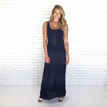 Ensenada Tie Dye Suede Maxi Dress