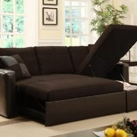 Adjustable Sectional Sofa Bed with Storage Chase