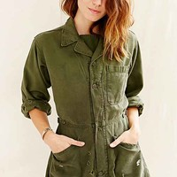 Urban Renewal Recycled Union Suit Shortall Romper- Green