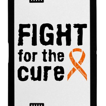 Fight for the Cure - Orange Ribbon Leukemia Black Jazz Kindle Fire HD Cover by TooLoud