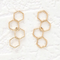 Stacked Geo Cutout Studs