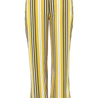 Plus Stripe Wide Leg Trouser | Boohoo