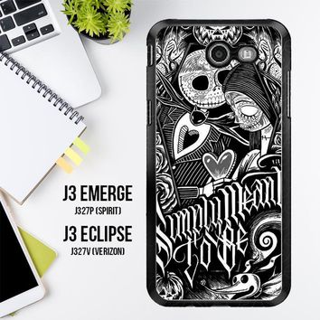 Jack And Sally Muertitos The Nightmare Before Christmas F0874 Samsung Galaxy J3 Emerge, J3 Eclipse , Amp Prime 2, Express Prime 2 2017 SM J327 Case