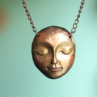 Goddess Wild, Woman Child: Clay Face Necklace