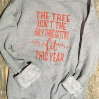 Tree Lit Graphic Sweatshirt