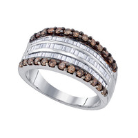 Diamond Fashion Ring in Sterling Silver 0.97 ctw