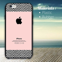 Chevron pattern on pink color iPhone 4/4S, 5/5S, 5C, 6 Series Hard Plastic Case