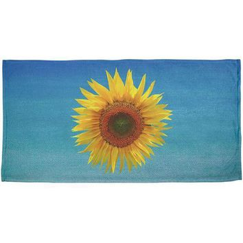 ESBGQ9 Flower Blossom Sunflower All Over Bath Towel