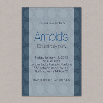 20 Pack of Custom Party Invitations, Birthday Party, Polka Dot, Housewarming, Sweet 16