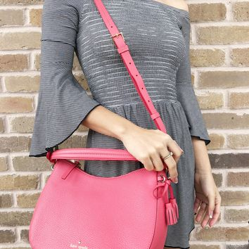 Kate Spade Hayes Street Small Aiden Warm Guava Coral Pink Satchel Crossbody