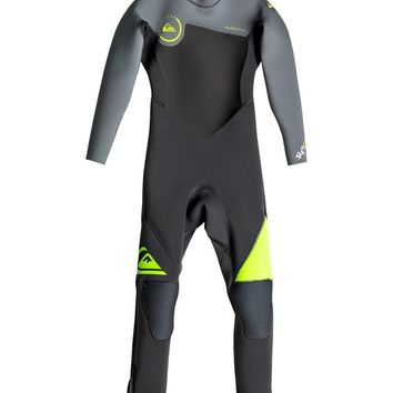 Boy's Syncro 3/2mm Back Zip Full Wetsuit 889351403797 | Quiksilver