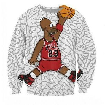 2014 New 3D Cartoon print sweatshirt for Men/Women jordan 23 Printed harajuku hoodies