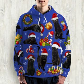 CAT ALL OVER PRINT HOODIE - HD005PA