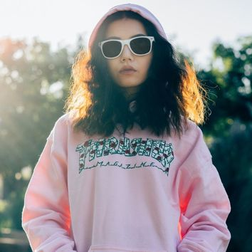 Thrasher Roses Light Pink Hoodie