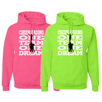 "Cheerleading Solid Sweatshirt - ""One Team One Dream"" Logo"