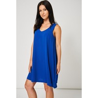 Royal Blue Sleeveless Sequin Cocktail Dress