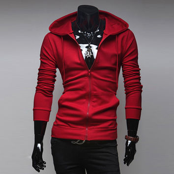 Winter Hoodies Men's Fashion Men Slim Hats Jacket [6528747971]