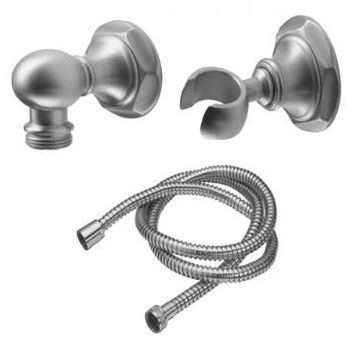 California Faucets Venice Collection Wall Mounted Hand Shower Kit - Hex - Graphite. 9125-47-GRP