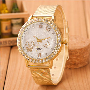New Famous Brand Silver Casual Geneva Quartz Watch Women Mesh Stainless Steel Dress Women Watches Relogio Feminino Clock