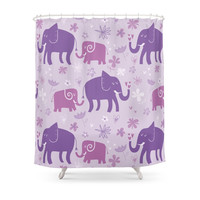 Society6 Elephants Shower Curtain