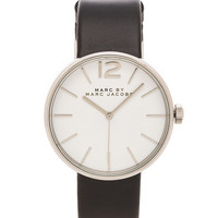 Marc by Marc Jacobs Peggy Watch in Black & Silver