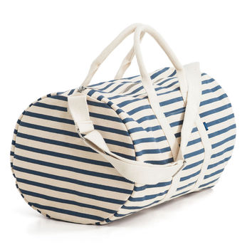 BAGGU Canvas Duffel Bag Sailor Stripe