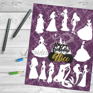Princess Birthday Party Guestbook, Princess Nursery Decor, Princess Guest Book, Baby Shower, Princess Room Decor, Guestbook Alternative