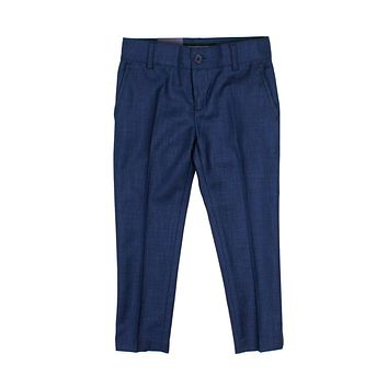 Armando Boys' Skinny Fit Off Navy Textured Pant
