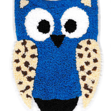 XL Extra Large 18cm Chenille Owl Patch