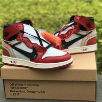 "OFF-WHITE x Air Jordan 1 ""Chicago"""